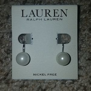 NWT Ralph Lauren nickle free clip on earrings, $24